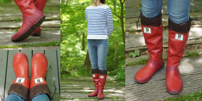 日本野鳥の会 長靴 レッド バードウォッチング